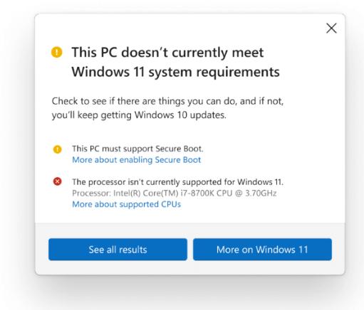 微软更新Win11最低系统需求 增加对部分旧处理器的支持的照片 - 2