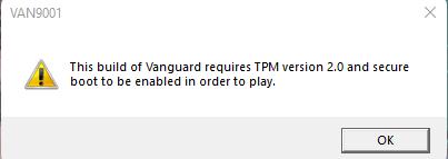 Riot Games网游《Valorant》在Win11上强制要求开启TPM 2.0