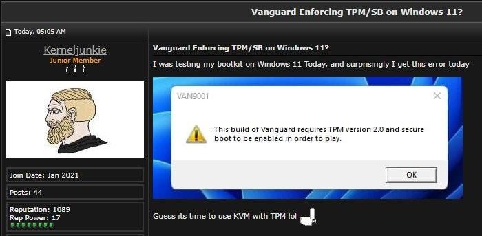 Valorant开始要求Win11玩家开启TPM与安全启动的照片 - 5