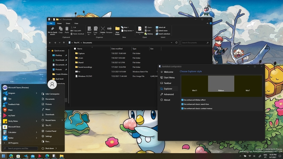 StartIsBack开始兼容Win11 定制经典开始菜单和任务栏的照片 - 2