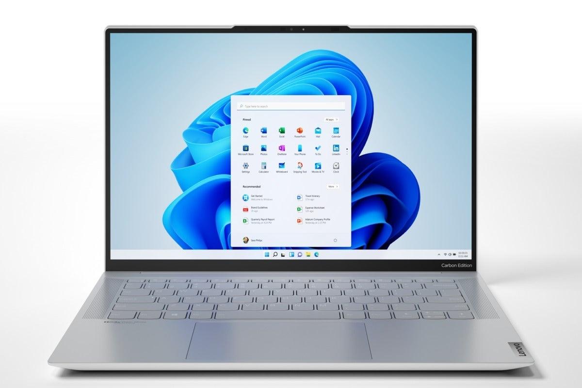 联想首款Windows 11笔记本IdeaPad Slim 7发布的照片 - 2