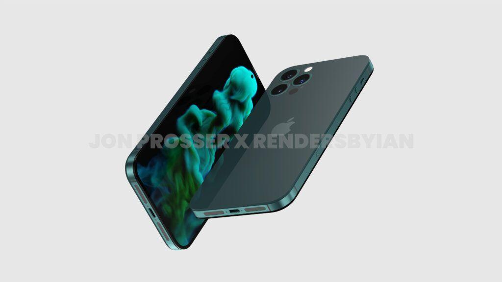 iPhone 14 Pro渲染图:打孔前摄 后摄近乎无凸起的照片 - 2