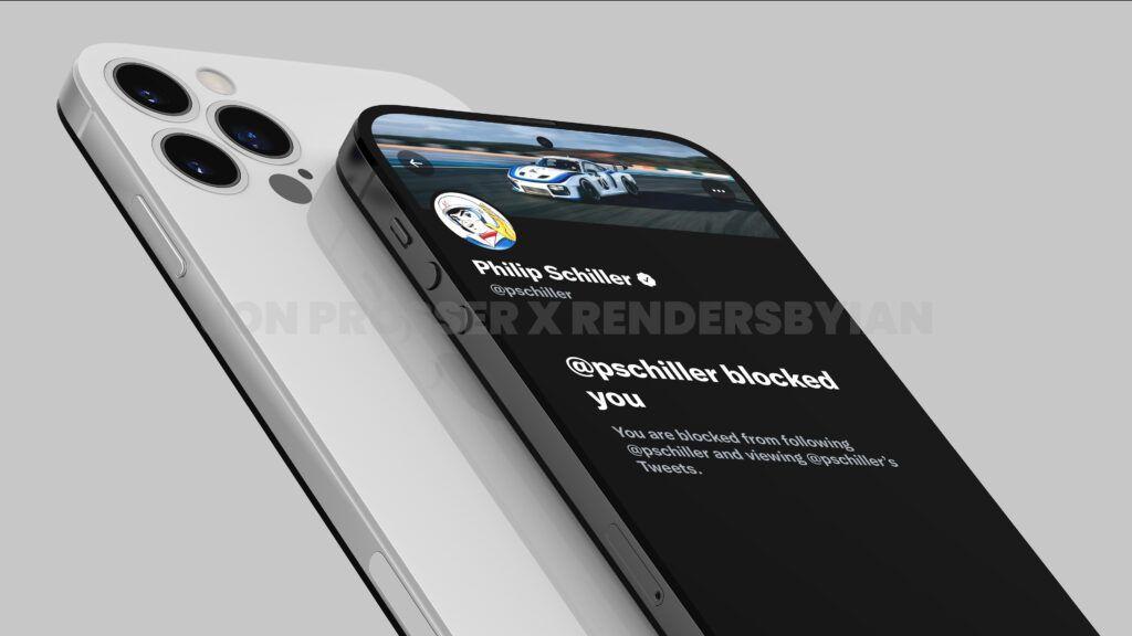 iPhone 14 Pro渲染图:打孔前摄 后摄近乎无凸起的照片 - 17