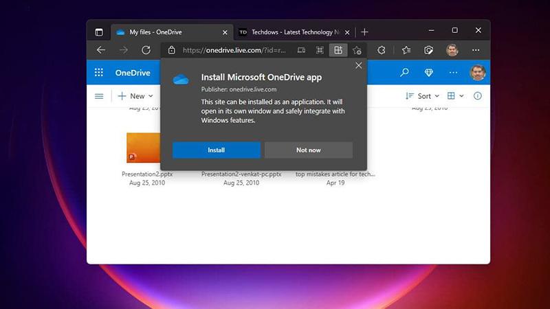 OneDrive PWA开放了PC、Mac、Chromebook上安装使用