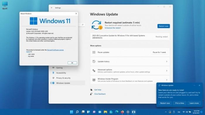 Windows 11 Build 22000.194发布:要求TPM 2.0