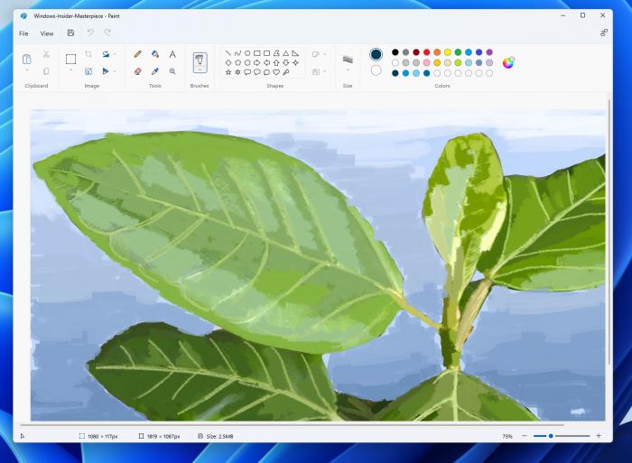 微软向Windows 11推送新版mspain画图应用程序