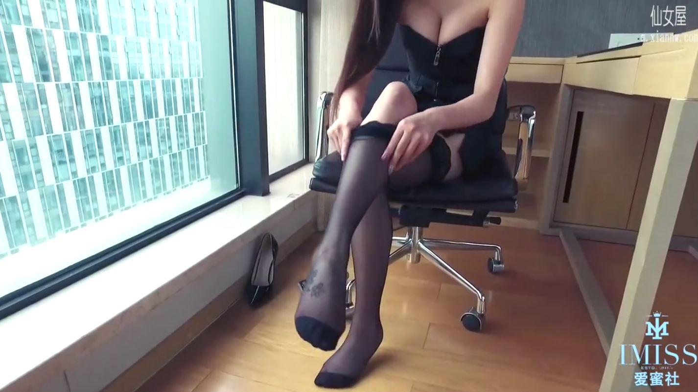 iStar魅妍社寫真美女 誘人黑絲絲襪 真是騷氣撩人2018/09/02