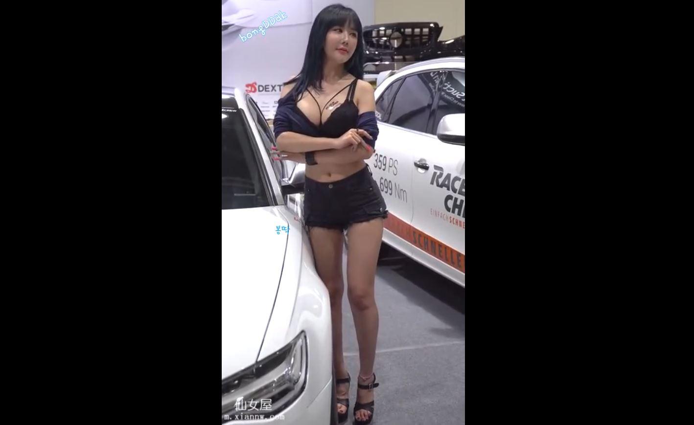韩国性感美女车展车模 白白嫩嫩的长腿 大大巨xiong 福利视频2018/09/08