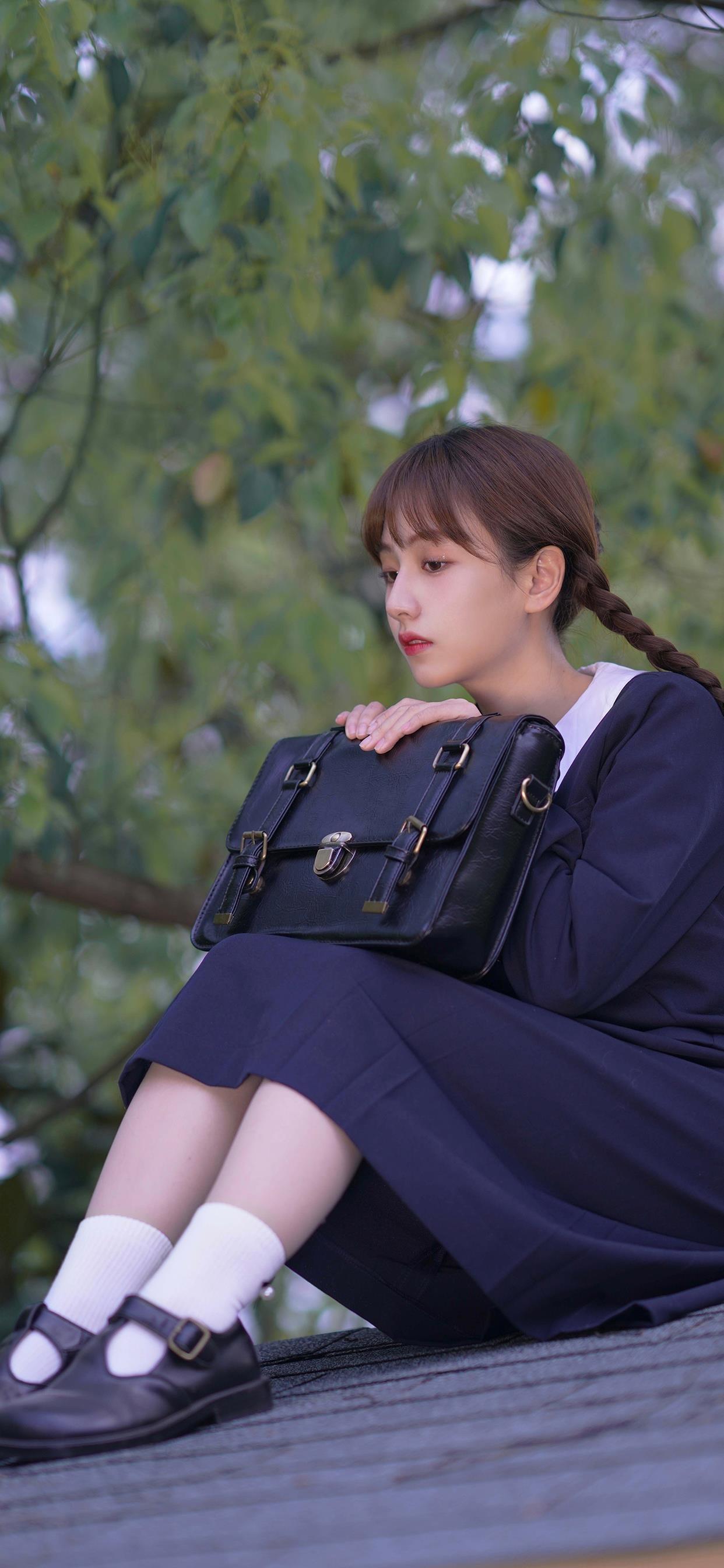 清纯少女jk制服写真手机壁纸