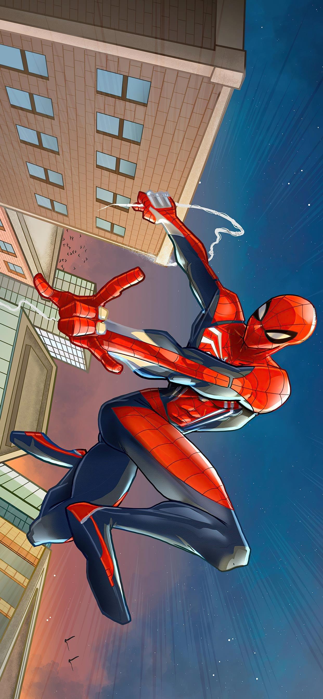 超级英雄蜘蛛侠卡通手机壁纸 太酷了吧!