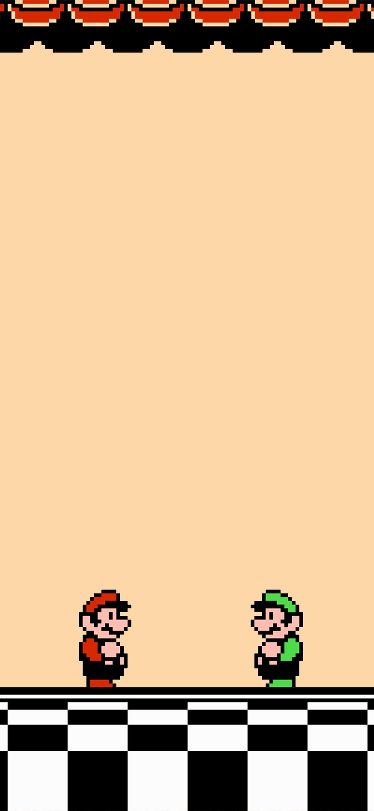 超级马里奥像素风手机壁纸