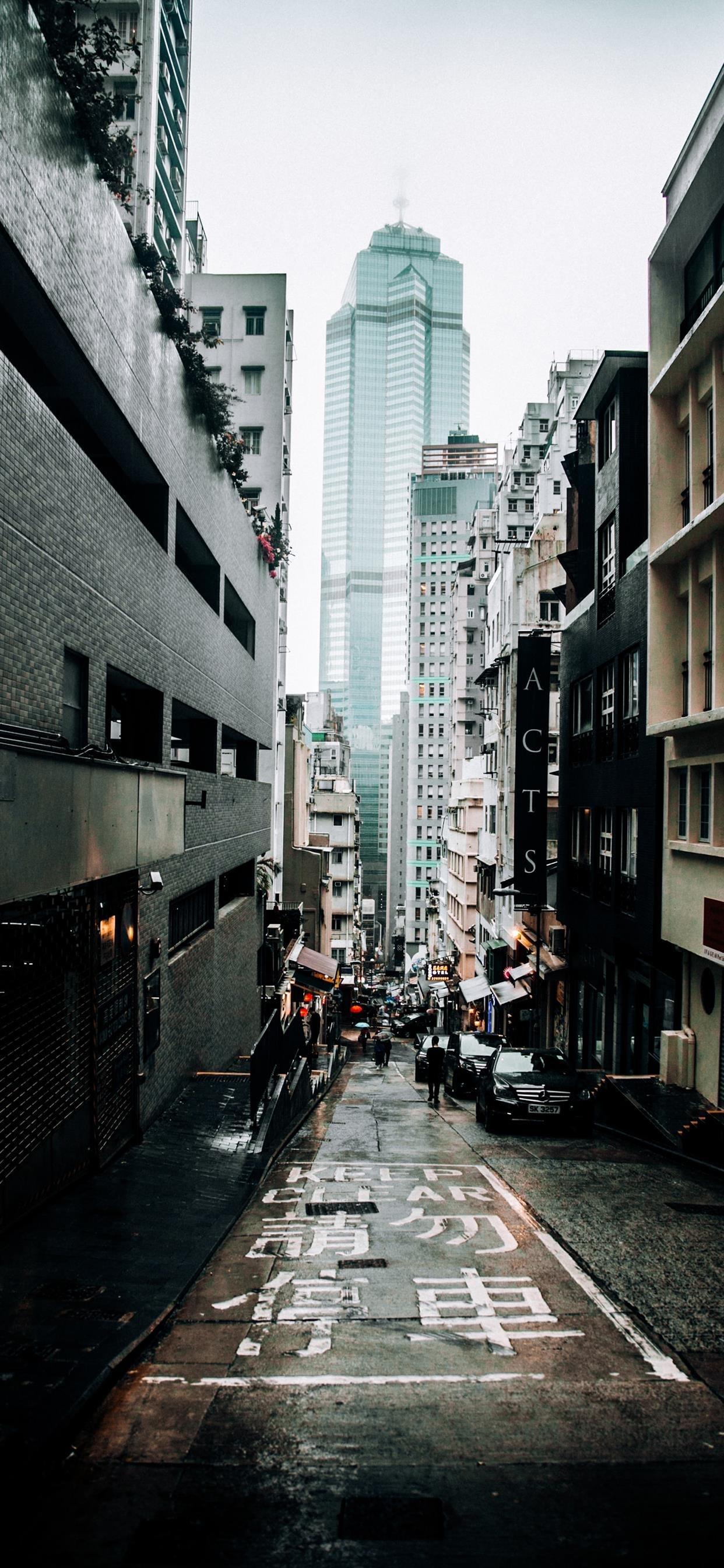 香港街头风景建筑手机壁纸