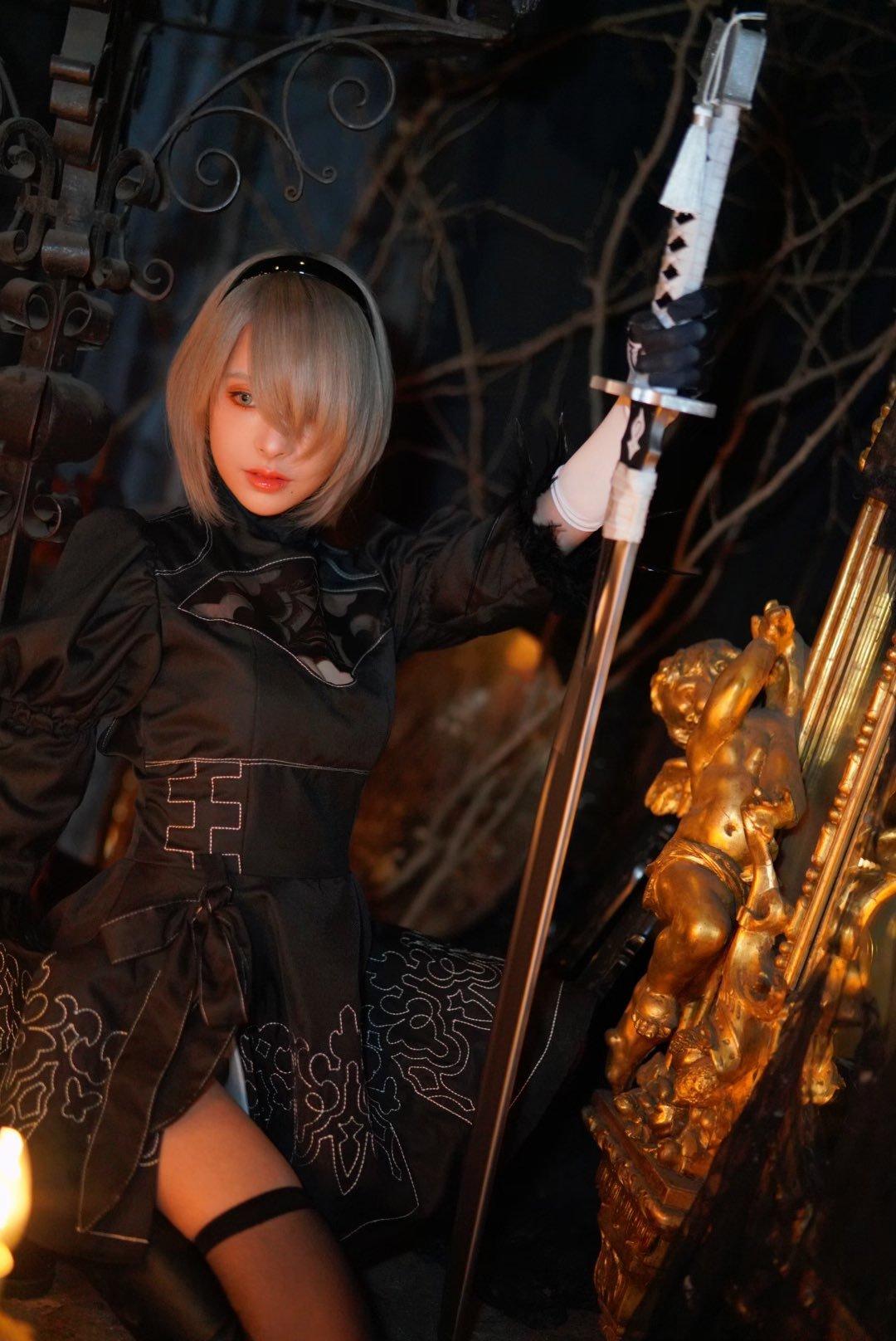 桃乃木香奈Cos《尼尔》2B小姐姐也太帅了 cosplay