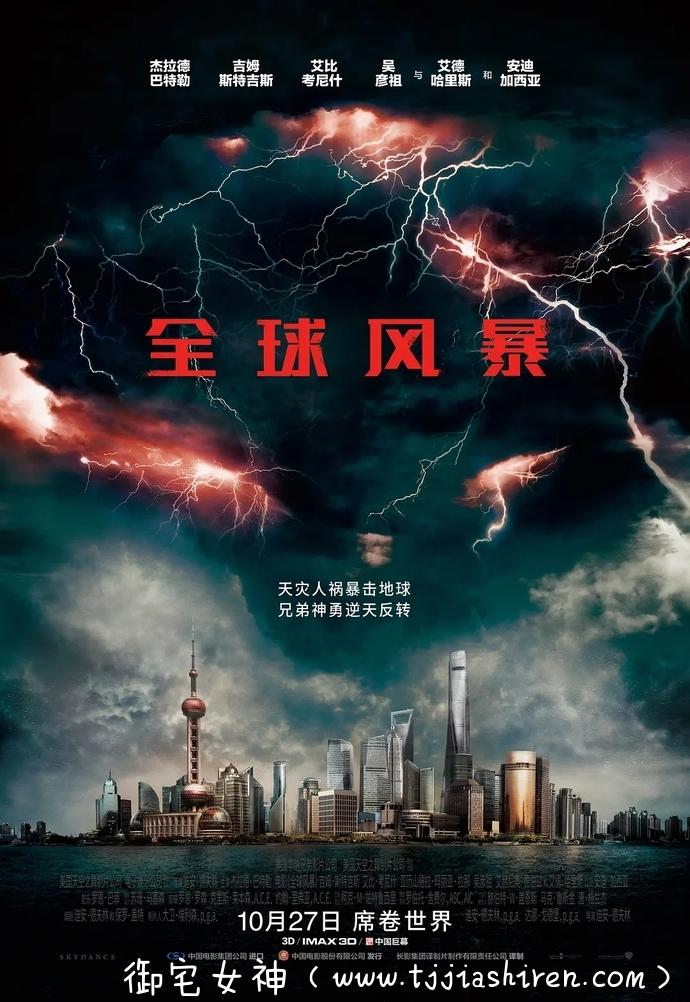 美国经典科幻灾难电影全球风暴 Geostorm (2017)影评,当人类拥有神的力量,一切都将化为乌有!