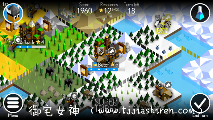 Super tribes超级部落-能够塞进口袋里随时随地攻城掠地的4X游戏!