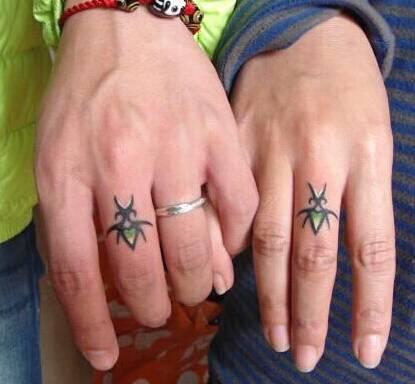 爱情的见证情侣纹身见证爱情唯美图案