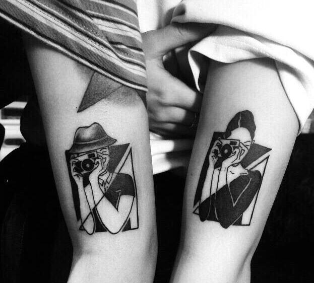 符合90后情侣新时代意义的特别纹身