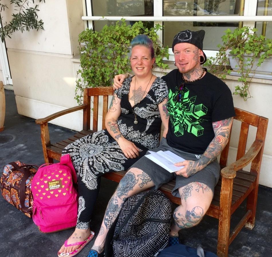 恩爱美国夫妇满身刺青纹身