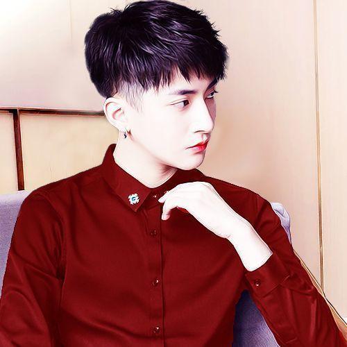 韩系帅哥头像侧脸帅气图片 染发的男生红色系比较多