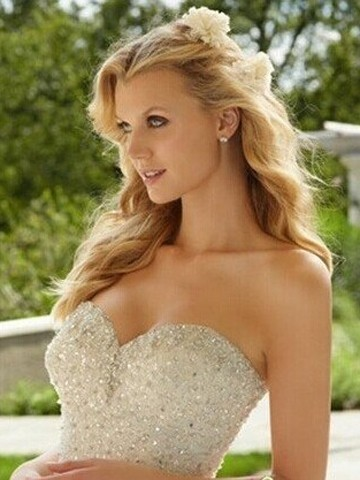 欧美复古卷发新娘发型设计图片