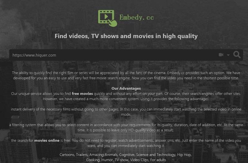 """""""高质量视频""""网站embedy介绍分享"""