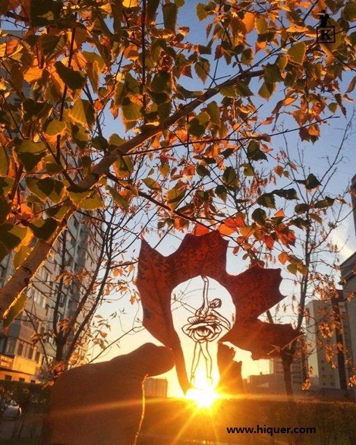 《超精美落叶艺术》艺术家Kanat Nurtazin栩栩如生的作品赋予树叶第二次生命! 趣事儿 第2张