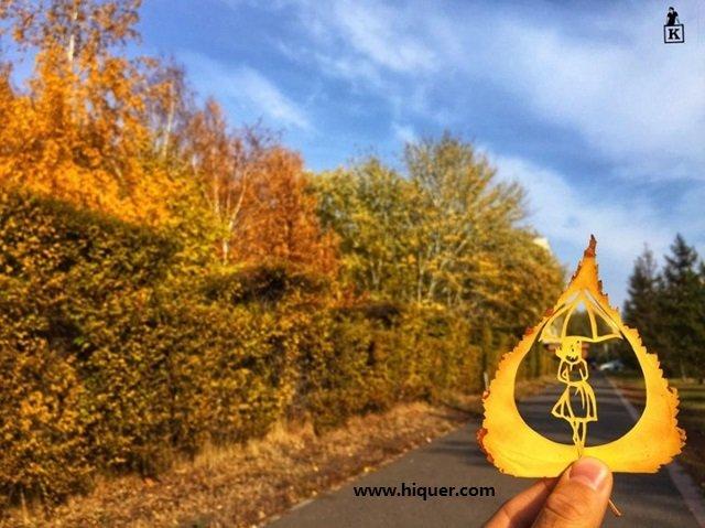 《超精美落叶艺术》艺术家Kanat Nurtazin栩栩如生的作品赋予树叶第二次生命! 趣事儿 第10张