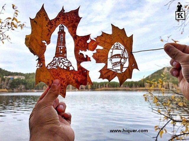 《超精美落叶艺术》艺术家Kanat Nurtazin栩栩如生的作品赋予树叶第二次生命! 趣事儿 第11张