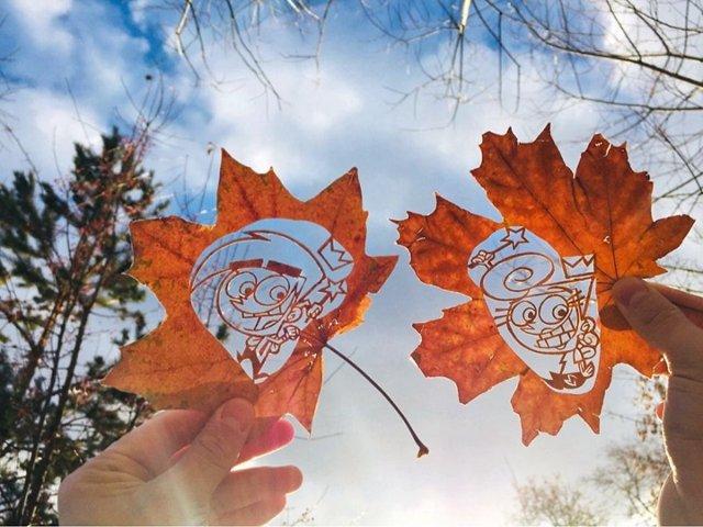 《超精美落叶艺术》艺术家Kanat Nurtazin栩栩如生的作品赋予树叶第二次生命! 趣事儿 第12张
