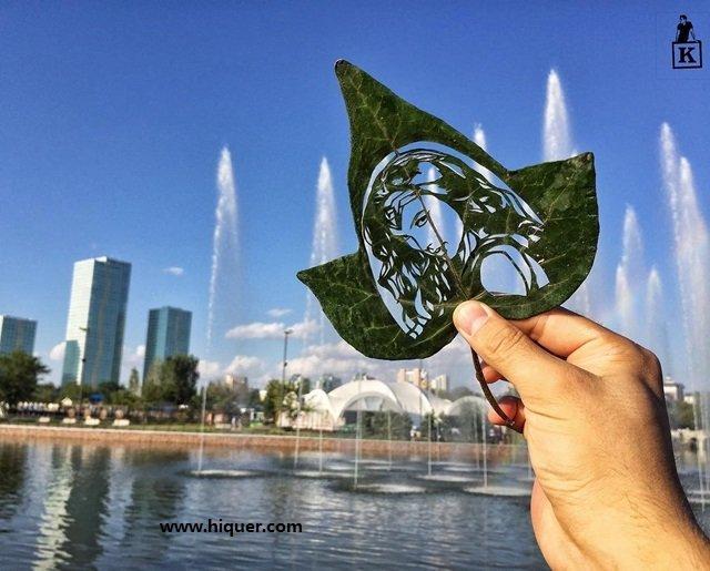 《超精美落叶艺术》艺术家Kanat Nurtazin栩栩如生的作品赋予树叶第二次生命! 趣事儿 第17张