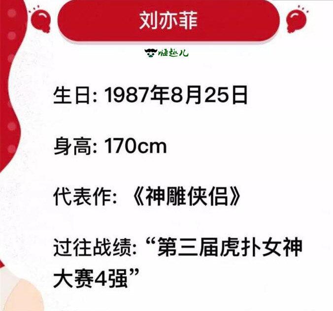 虎扑步行街女神诞生,刘亦菲夺冠