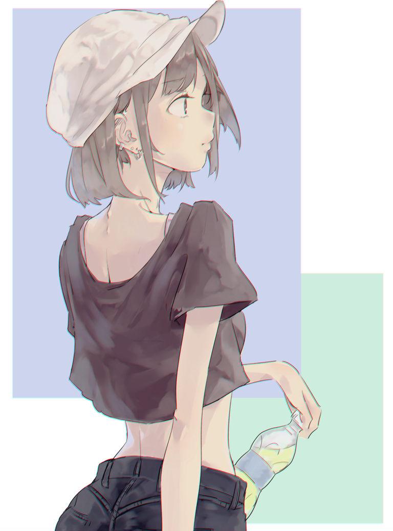 每日插画精选:复古可爱的报童帽少女 福利吧 第1张