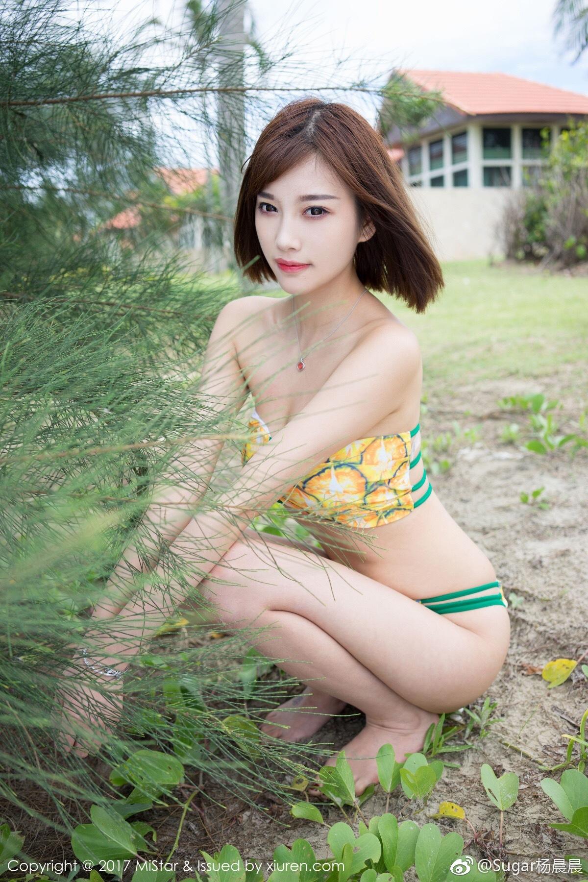 Sugar杨晨晨短发女生也可以性感和可爱[二哈]全套图下_美女福利图片(图8)