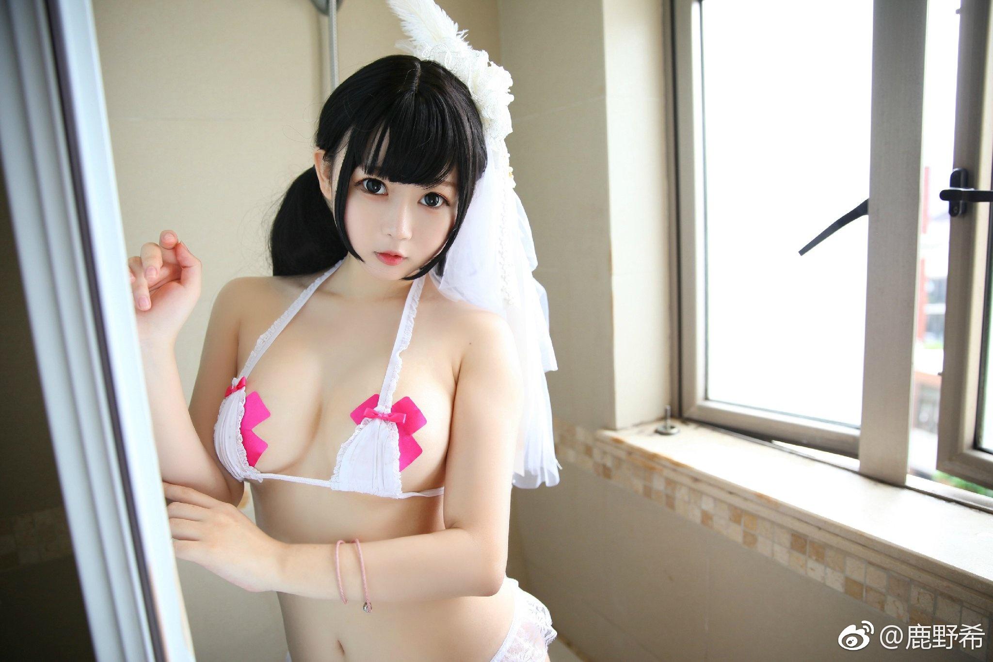 鹿野希  8月5号从本条微博转发抽取三位送双人写_美女福利图片