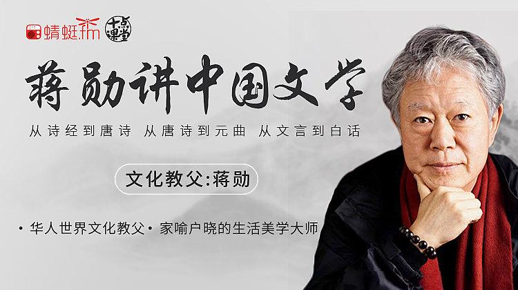 听蒋勋讲中国文学