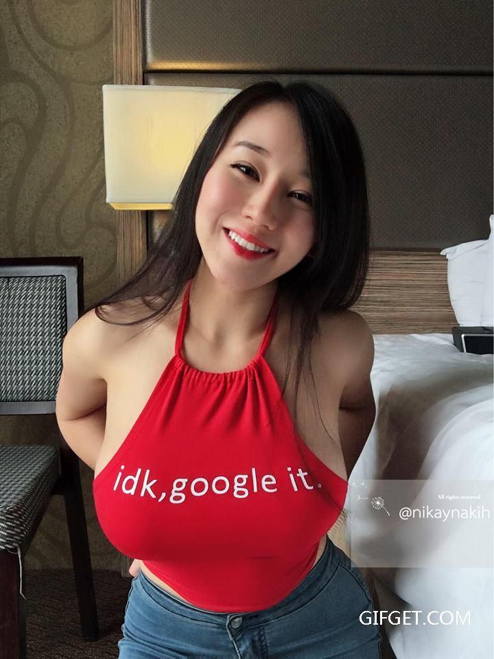美女GIF:马来西亚网红模特-Ukinikay Nakihcinnak GIF出处 热图4