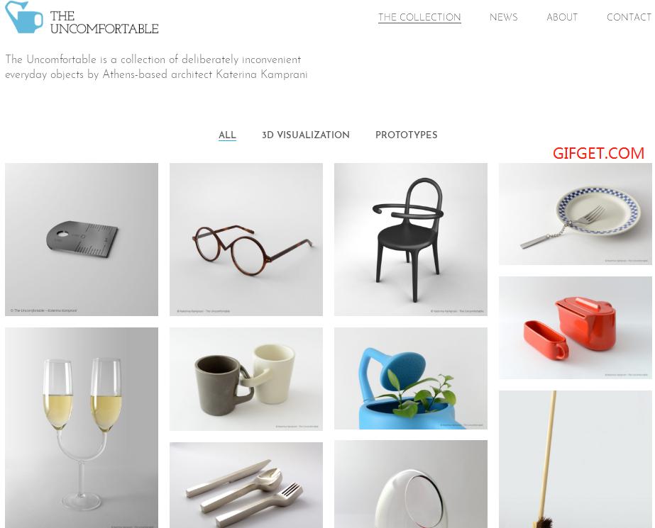 【The Uncomfortable】建筑师Katerina专门设计反人类的用具 简直是国外版的手工耿 趣事儿 第1张