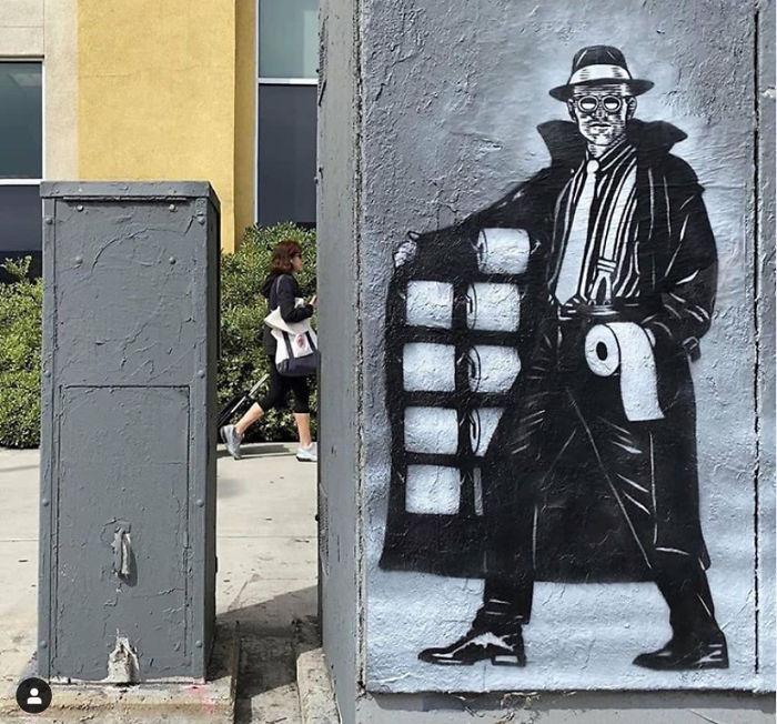 全球新冠肺炎疫情下世界各地的街头涂鸦艺术插图(5)