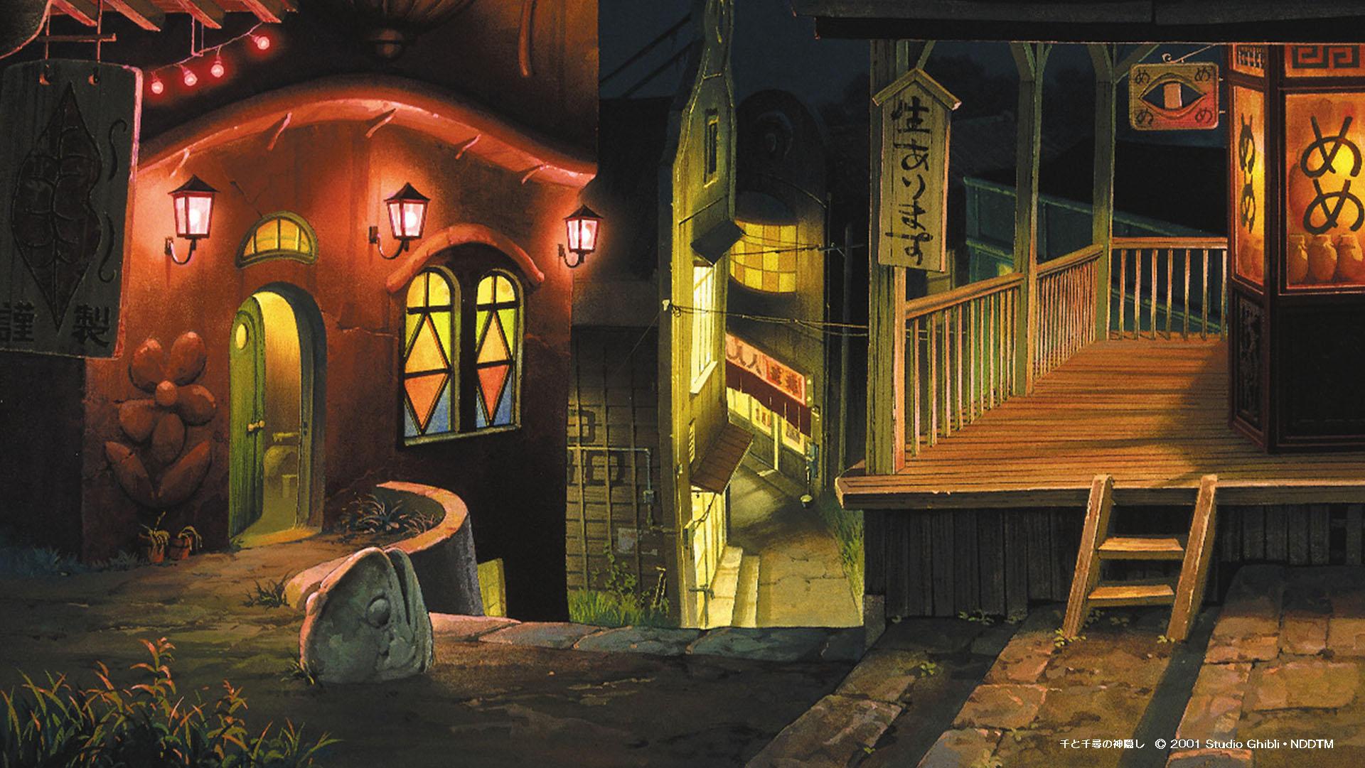 吉卜力提供免费视频会议背景素材,让你置身宫崎骏动画世界插图(3)