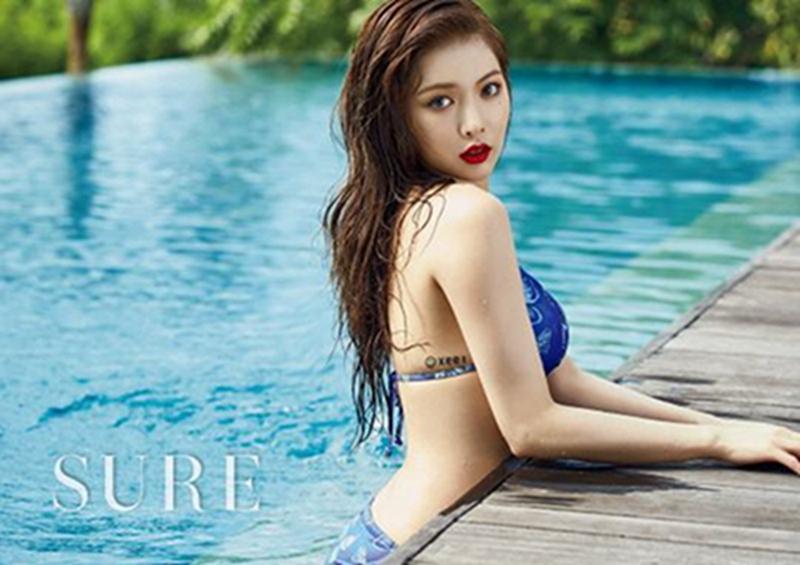 韩国歌坛性感女神金泫雅写真图片