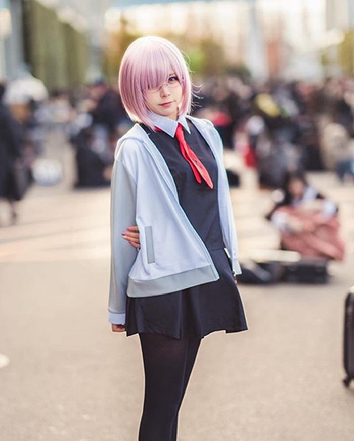 Liyuu学生系列写真,来自人气美女coser的校园风格