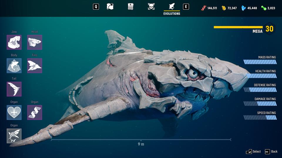 游戏《食人鲨Maneater》变异和进化攻略