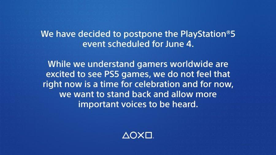 索尼推迟PS5六月发布会,推迟时间无法预估