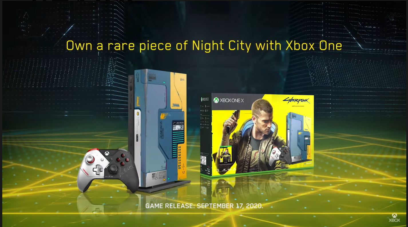 《赛博朋克2077》限量版Xbox One X 现已发售