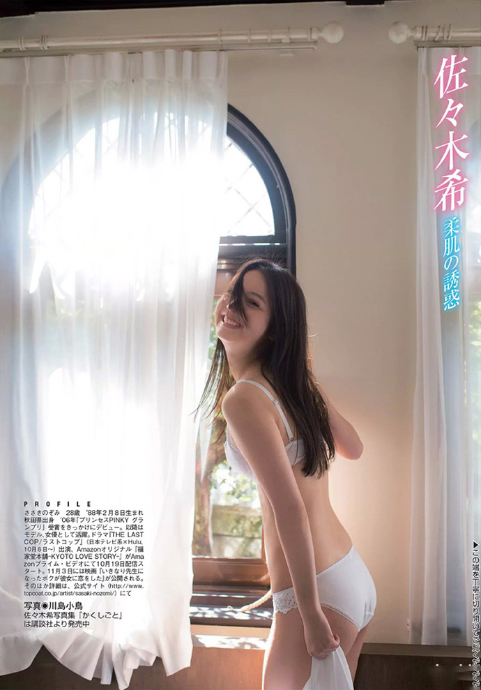 童颜天使佐佐木希,也未能逃过老公出轨的结局