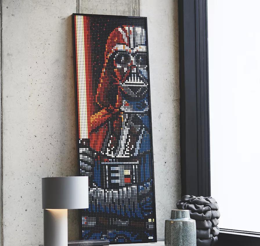 """乐高推出了一系列可建造的流行艺术""""海报"""",其中包括钢铁侠,达斯·维达和披头士乐队"""