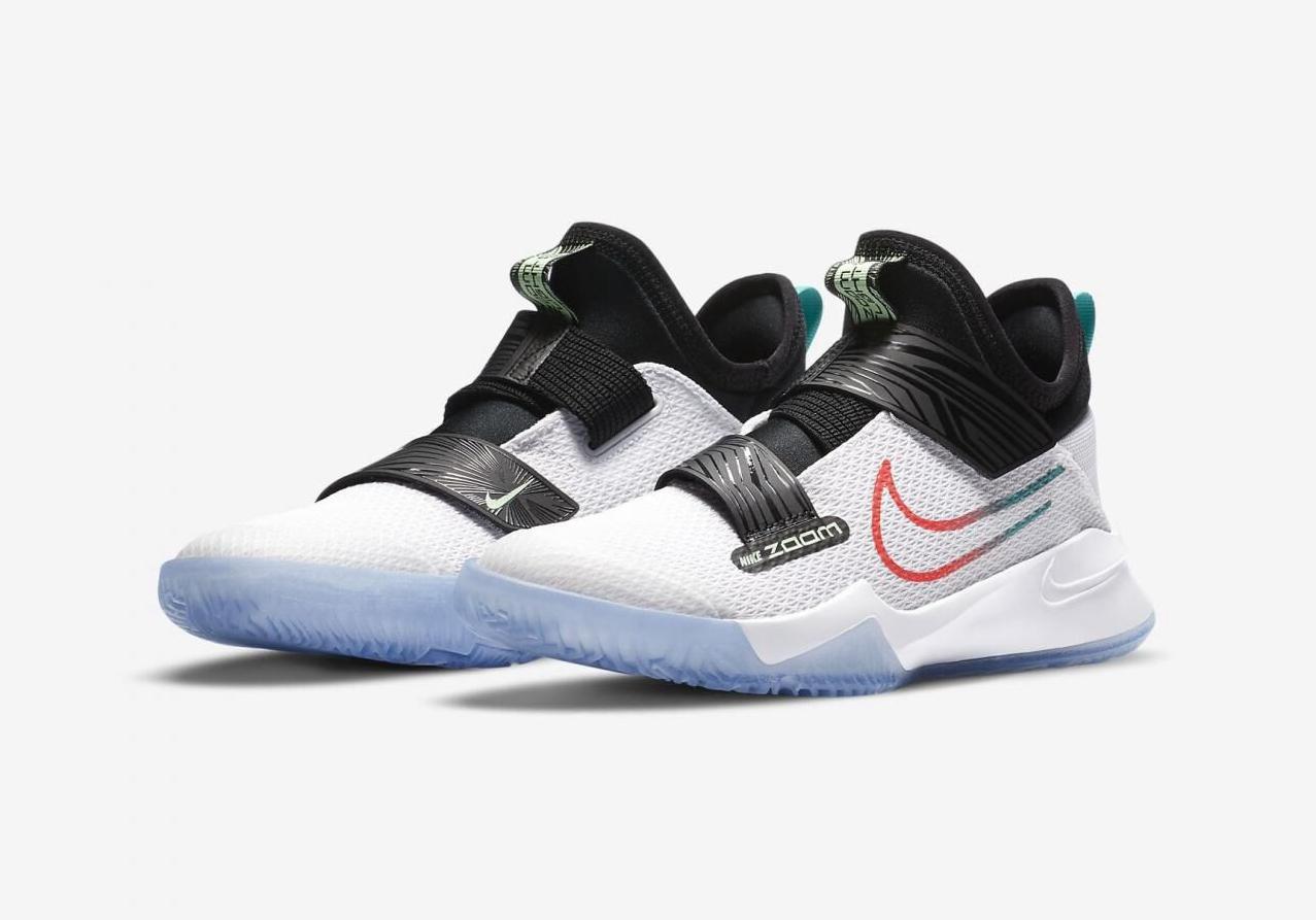 NikeBasketball发布全新白/翡翠绿/黑/闪电深红色NikeZoomFlightGS