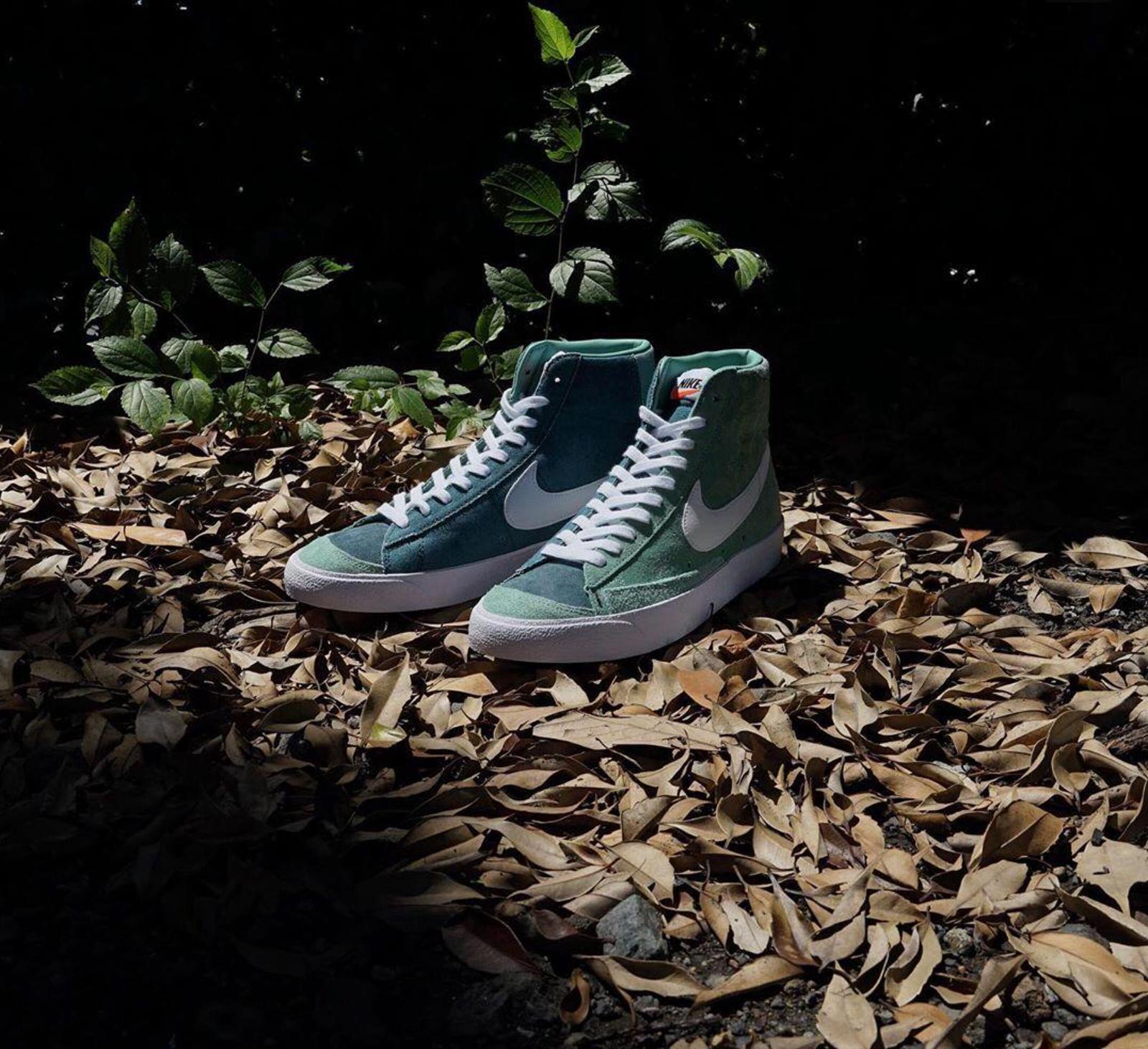 Nike Blazer Mid '77 VNTG全新治愈翡翠绿/白/灰绿配色即将发售