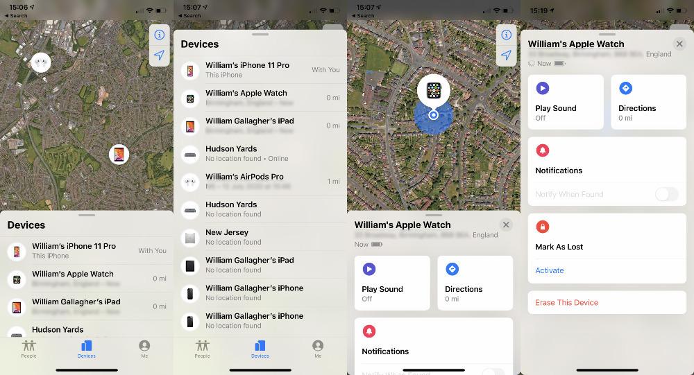 AppleWatch丢失后或找不到时该如何查找位置