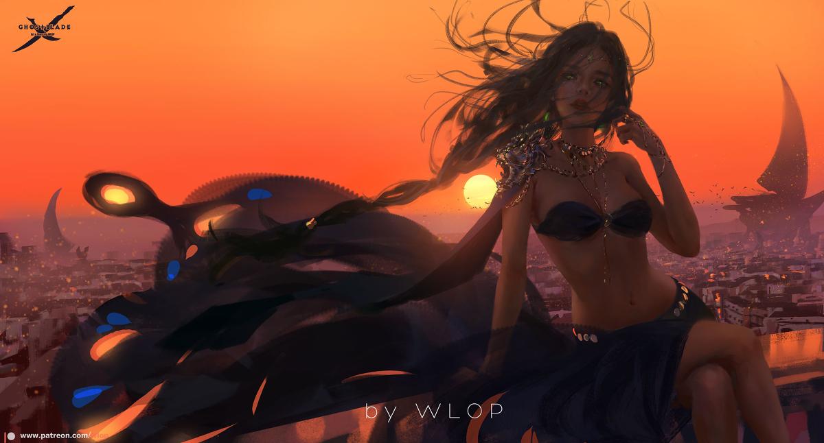wlop最新插画作品合集,除了鬼刀以外还有这些让你喜欢的插画